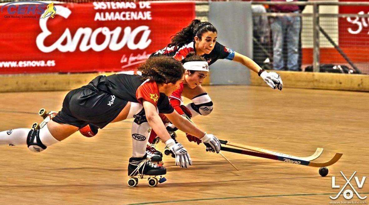 Esnova en el campeonato de Europa femenino de Hockey