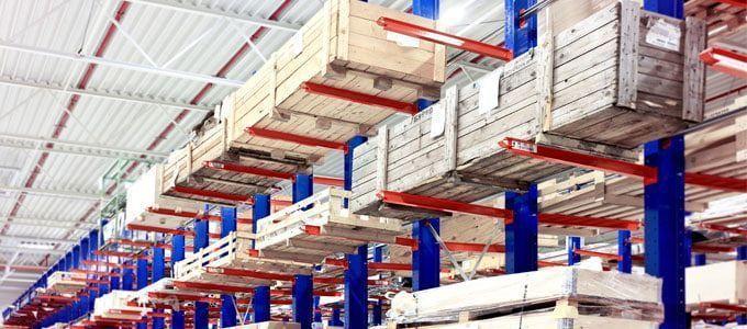 estanterías cantilever para cargas pesadas
