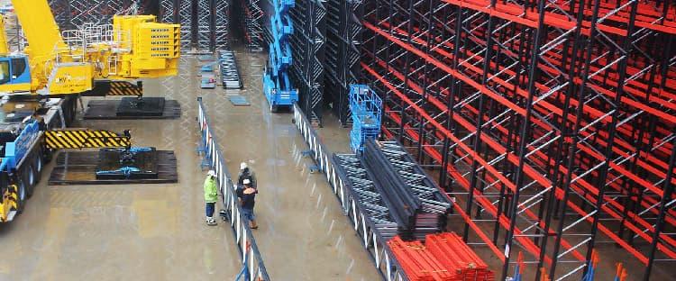 Caso de éxito: instalación de un almacén autoportante por Esnova Racks